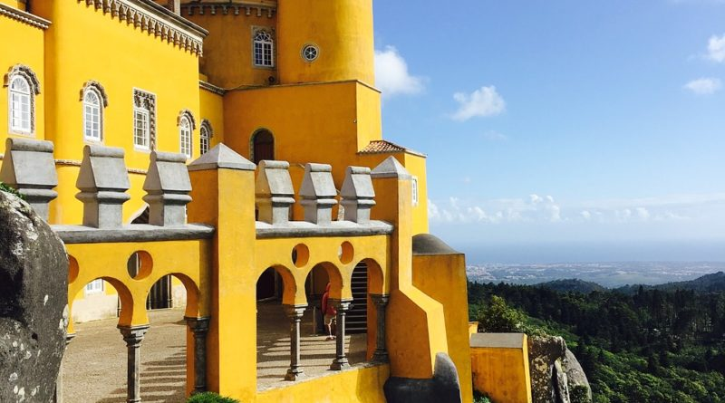 castle, portugal, europe