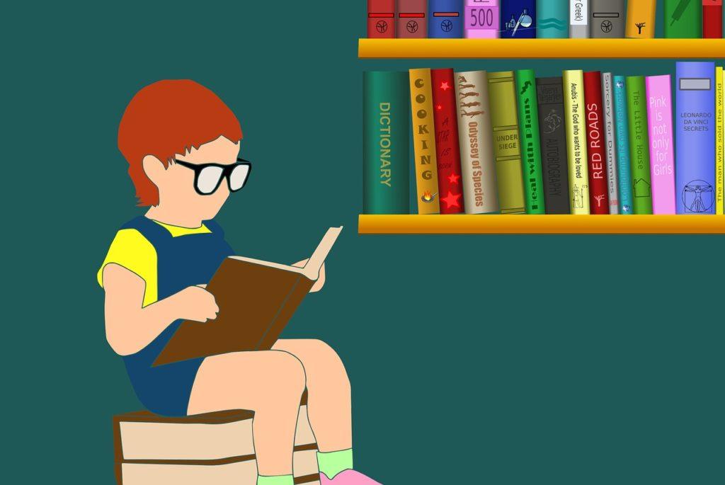 child, reading, book