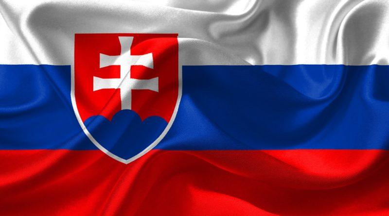 flag, slovakia, coat of arms